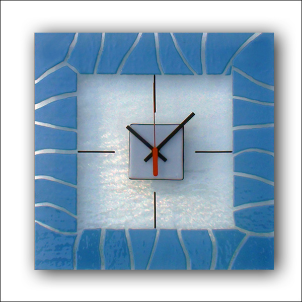 Glass wall clock design : Wall design clock