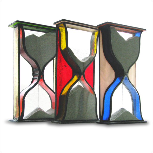 Stained Glass Hourglass, Tiffany technique